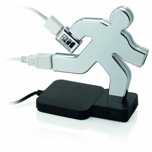 Hub USB 4 ports ''Hubman'' Réf. LCA021907