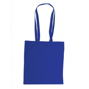 Sac shopping en coton à anses longues. - couleur : bleu de cobalt Ref. LCA04252