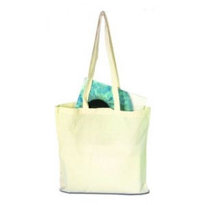 Sac shopping en coton naturel à anses longues. - couleur : beige Ref. LCA04264