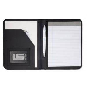 Conférencier A5 en PVC livré avec bloc-notes, sans stylo - couleur : noir Ref. LCA04787