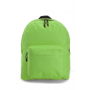Sac à dos en polyester 600D avec poche frontale zippée. - couleur : vert clair Ref. LCA041408