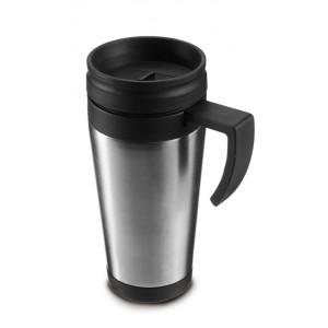 Mug isotherme en acier inoxydable d'une contenance de 0,40 l.  - couleur : silver