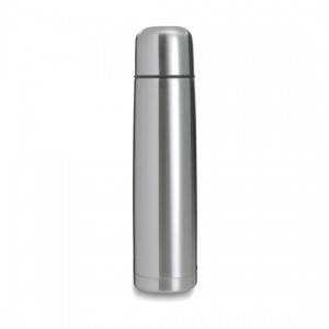 Bouteille isotherme en acier inoxydable d'une contenance de 1 l. - couleur : silver