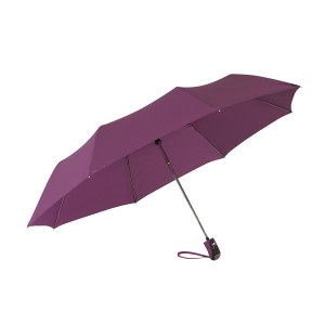 """Parapluie de poche automatique """"Cover"""", toile et étui en polyester pongée Ref. LCA0536"""