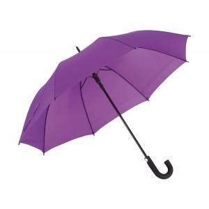"""Parapluie golf automatique """"Subway"""": métal noir; poignée gomme, polyester 190T, hydrofuge, fermeture velcro Ref. LCA05241"""