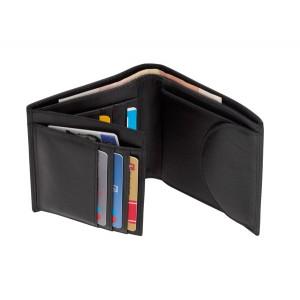 """Porte monnaie cuir véritable """"Dow Jones"""" portrait Ref. LCA05699"""