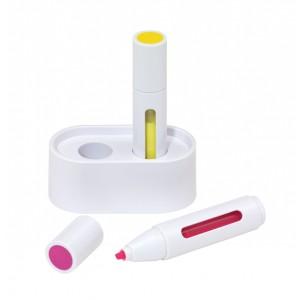"""Set de surligneurs """"Space Star 2"""": support de stylos, 2 surligneurs (rose et jaune) Ref. LCA051885"""