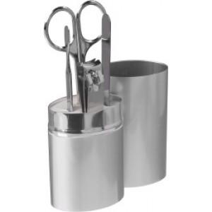 Set manucure de 4 pièces dans un tube en aluminium. - couleur : silver