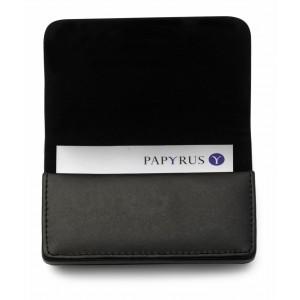 Porte-cartes de visite en cuir reconstitué (synderme) avec fermeture magnétique. - couleur : noir Ref. LCA042653