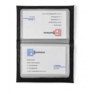 Etui porte-cartes en cuir reconstitué (synderme) d'une capacité de 20 cartes. - couleur : noir Ref. LCA042659