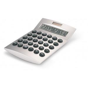 Calculatrice à 12 chiffres. Boîtier en plastique. 1 pile bouton incluse. réf. LCA 0603 argenté mat