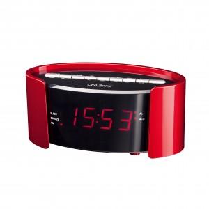 Radio-réveil FM PLL, recherche automatique, mémorisation et affichage digital des fréquences, réveil par radio ou buzzer, double alarme, fonctions sleep et snooze, réserve en cas de coupure de courant (piles non incluses) Ref. LCA0116
