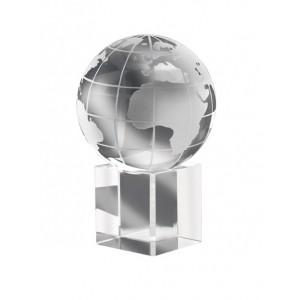 Presse papiers Mundi cristal. En boîte cadeau individuelle. réf. LCA 0669 transparent