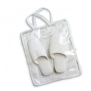 Set de bain chaussons et peignoirs. En poly coton. réf. LCA 06217 beige