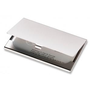 Etui pour cartes de visite en métal mat. réf. LCA 06457 argenté mat