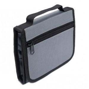 Trousse à outils comprenant 25 outils de base, pinces, ciseaux et plusieurs tournevis. Étui pliable. Polyester 600D. réf. LCA 06930 gris