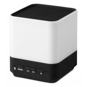 Haut-parleur Bluetooth 3.0 en ABS avec lumière d'ambiance incuant câble de chargement USB et fiche. Piles fournies. réf. LCA 061654 noir