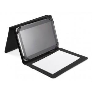 Porte-document A5 en polyester 600D et PU, avec compartiment pour tablette et bloc A5 de 20 pages de papierligné. réf. LCA 061669 noir