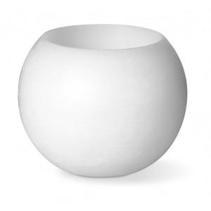 Bougie en cire avec lampe LED. 1 pile CR2032 fournie. réf. LCA 061813 blanc