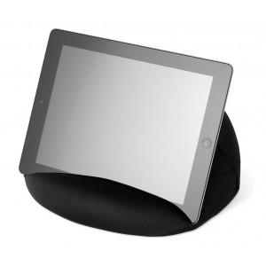 Support de tablette en microfibres avec remplissage de billes en poly-mousse. réf. LCA 062019 noir