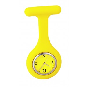 Montre infirmière analogique  silicone Réf. LCA 12101 jaune