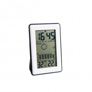 Station météo, prévisions météo, pictos météo animés, thermomètre, hygromètre, mémoire des min.