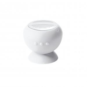 Haut-parleur Bluetooth® 2.1 pour Smartphone, iPod, iPhone, iPad, MP3, ordinateur, HP 1 x 3 W, doté d'une ventouse pour le fixer sur toute surface lisse, il devient un support pour votre appareil mobile, fonction microphone pour recevoir vos appels, batter
