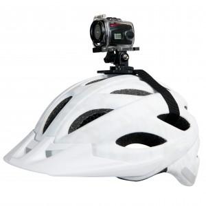 Caméra de sport HD miniature, étanche avec son boîtier de protection, Vidéo : capteur d'image CMOS 1,3 méga pixels, champ de vision 90°, optique résolution HD 1280 x 720, VGA 640 x 480, format vidéo AVI, balance des blancs automatique, Photo : format JPEG