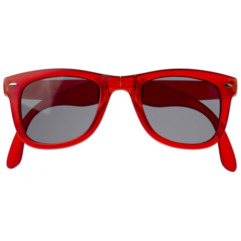 d8f4cd149cb73 Lunettes de soleil pliables en plastique aux normes 400 UV. - couleur    rouge Ref