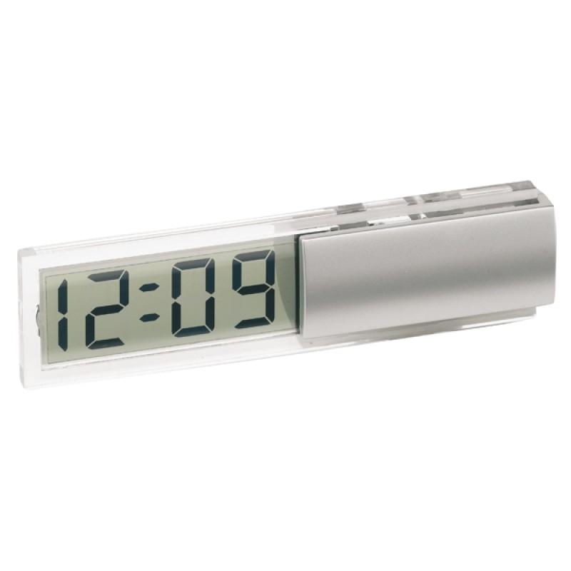 horloge de bureau avec lcd transparent et affichage de la date objet publicitaire le cadeau. Black Bedroom Furniture Sets. Home Design Ideas